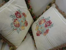 Large quantity of mainly feather filled cushions.