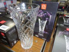 Melodia Crystal vase. This item carries VAT.