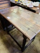 Late 18th Century / Early 19th Century oak table.