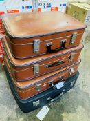 4 vintage suitcases, one by Antler.