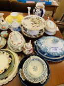 Quantity of decorative china including cups and saucers.