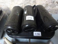 3 flasks & trays