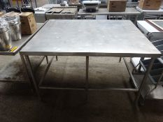 Large stainless steel centre table