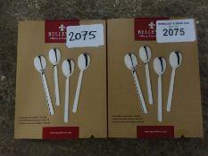 8 new tea spoons