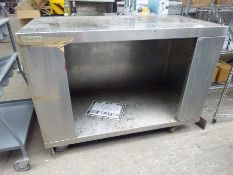 Stainless steel mobile trolley