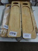17 wooden serving boards