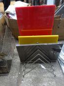 Chopping boards in rack