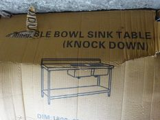 Double bowl left hand drainer sink