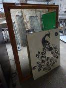 Pine mirrors & wall art