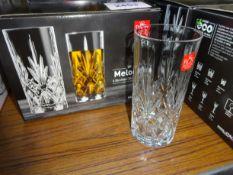 6 Melodia Crystal hi-ball glass.