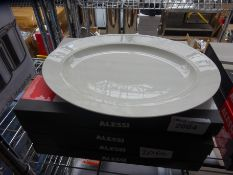 4 Alessi oval plates