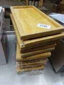 11 wooden serving boards
