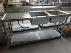 Double bowl single drainer sink