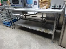 Stainless steel prep table, shelf, & drawer