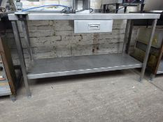 Stainless steel prep table with drawer, under shelf & can opener