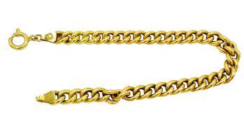 750 gold chain link bracelet.