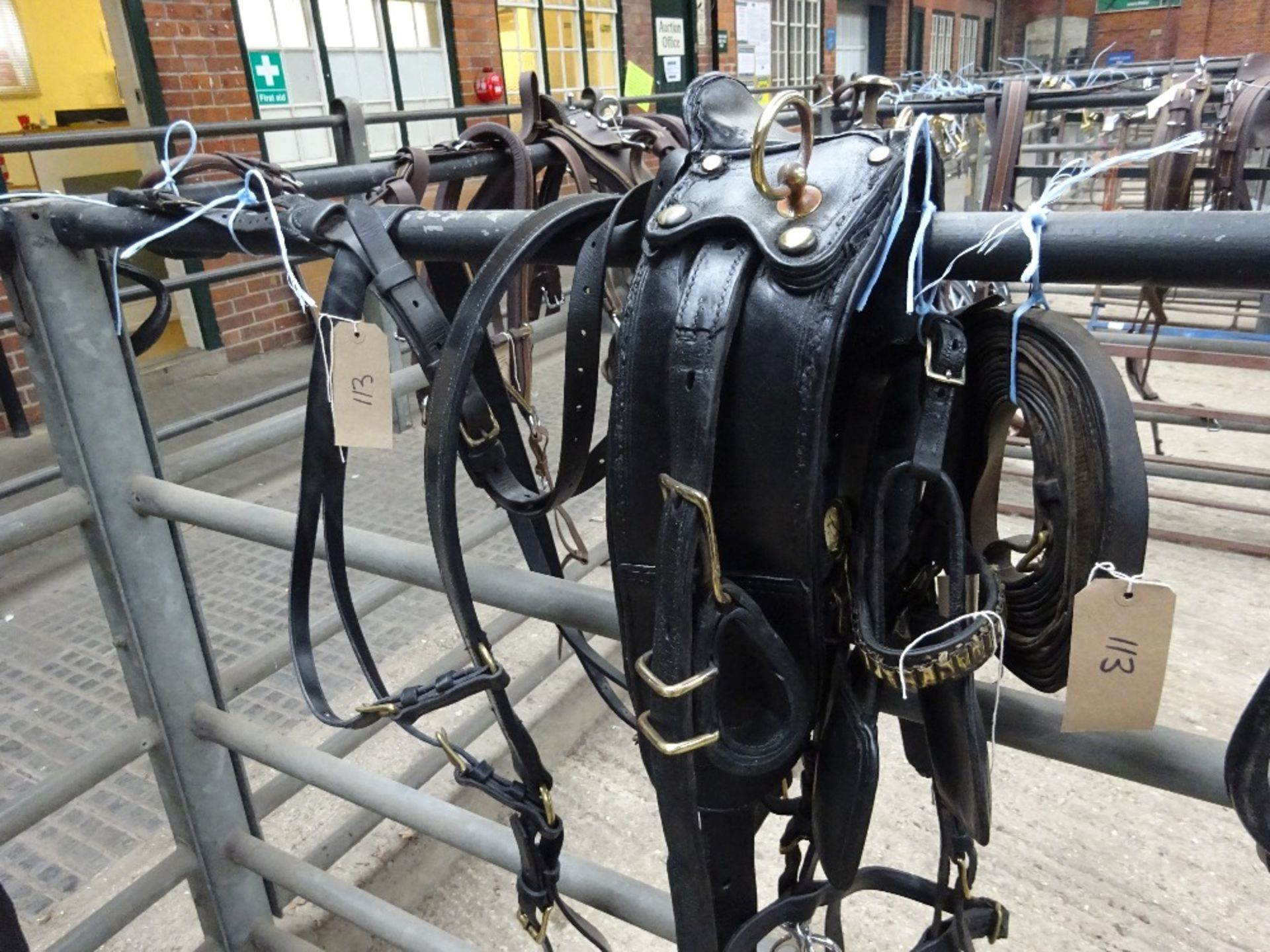 Set of cob size English working harness with collar approx. 21 x 8 inches - carries VAT - Image 3 of 3