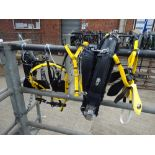 Set of black/yellow quick hitch cob size trotting harness - carries VAT.