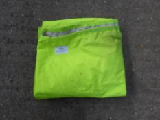 Large fluorescent exercise rain sheet