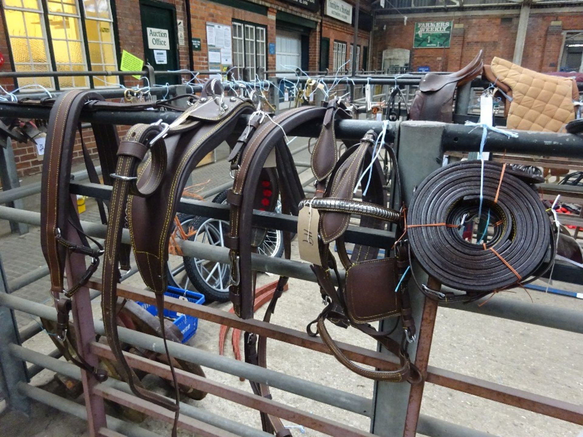 Set of brown/whitemetal breastcollar harness to fit a pony - carries VAT. - Image 2 of 2