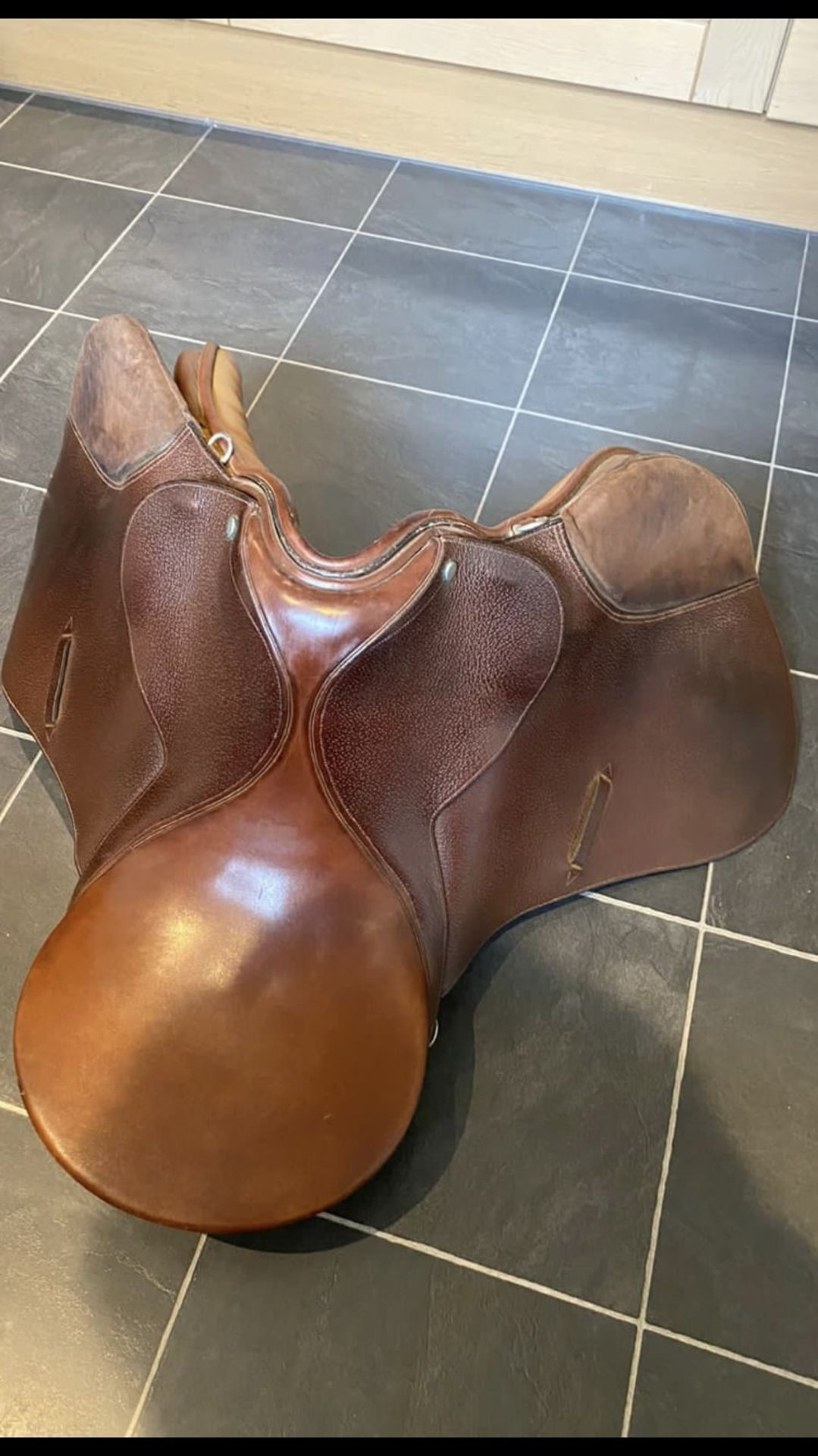 Leather English saddle