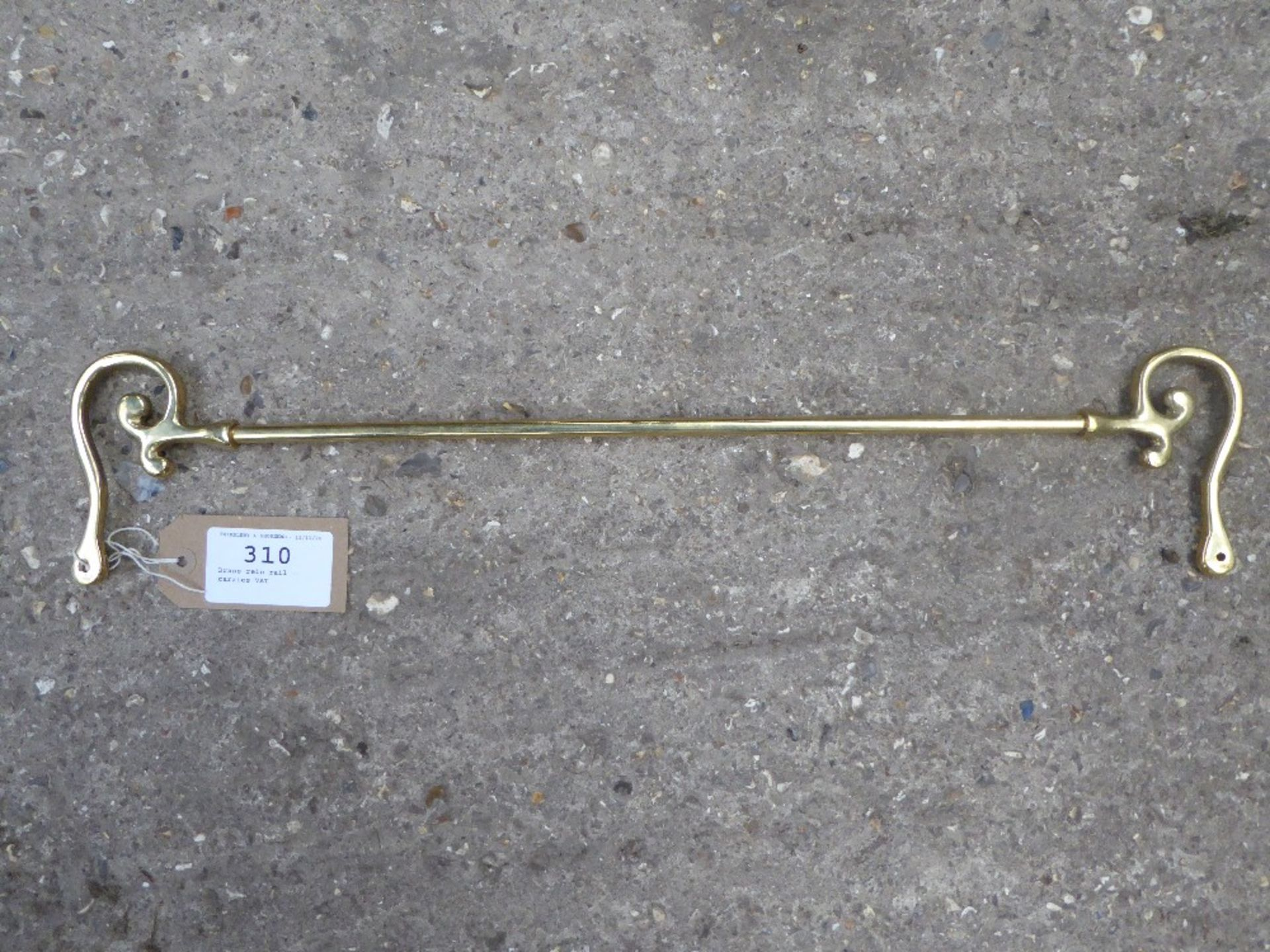 Brass rein rail - carries VAT.