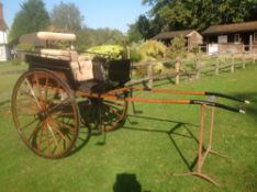 DOG CART built by McNaught of Birmingham circa 1920, to suit 14.2 to 15.2hh. Lot 6 is in Guildford
