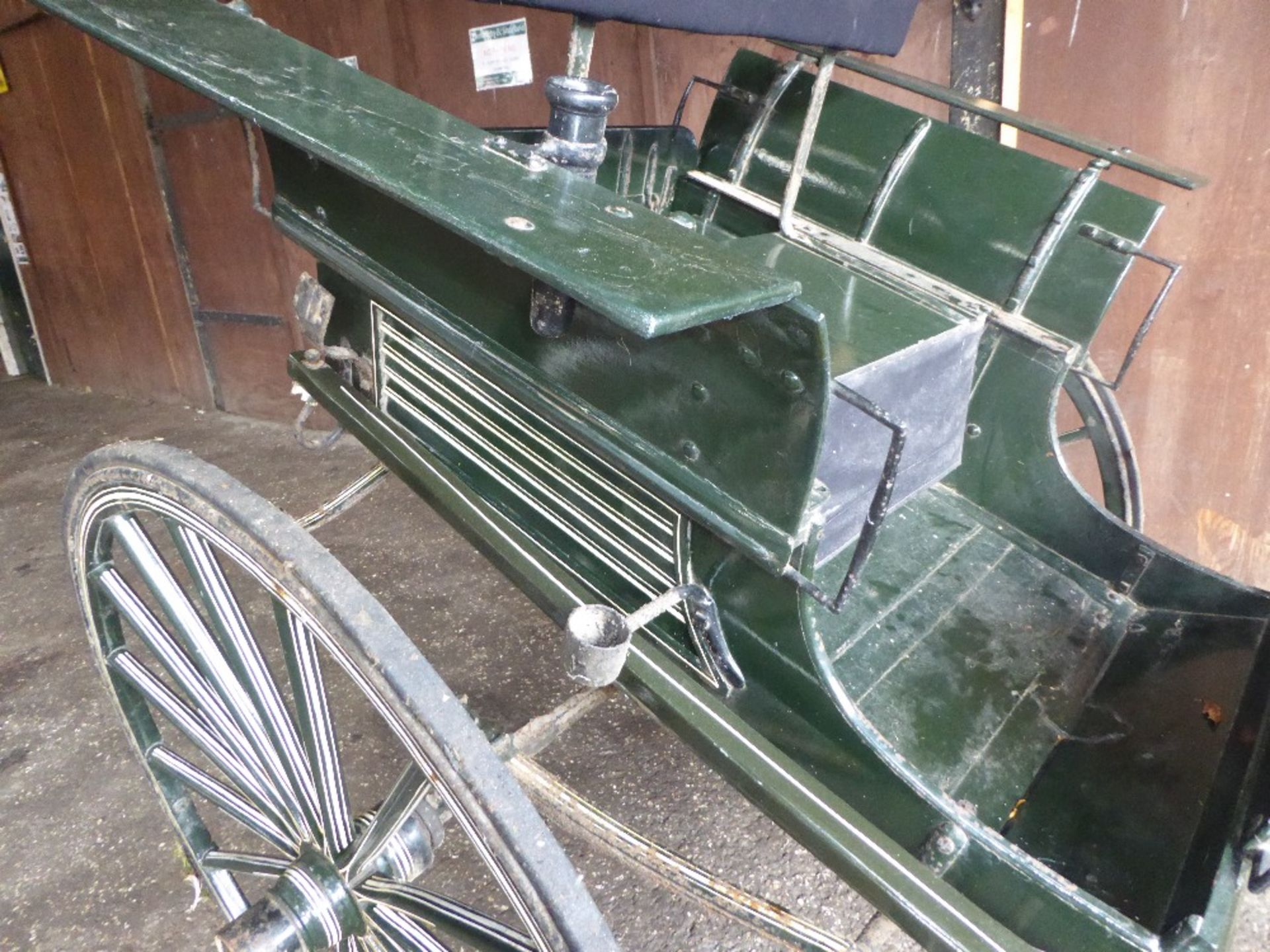 RALLI CAR built by John Beadle of Dartford to suit 13 to 14hh. Painted dark green with cream lining - Image 14 of 14