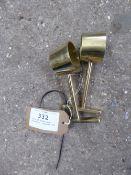 Pair of brass lamp brackets - carries VAT
