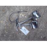 Pair of stainless steel lamp brackets - carries VAT