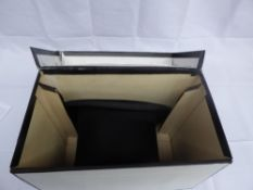 Black top hat by Christys' of London size 7, with hat box