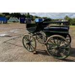 FRENCH WAGONETTE circa 1900 to suit 14.2 to 16hh single.  Lot 13 is located at the Reading Auction C
