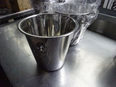 2 new stainless steel wine buckets.