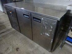 Foster 2-door under counter fridge, 142cms.