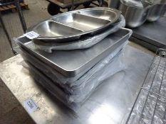 Aluminium trays.