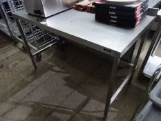 Stainless steel prep table, 140cms.