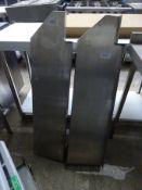 2 stainless steel shelfs.