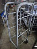 8 tier tray trolley.