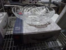 New Melodia crystal bowl centrepiece.