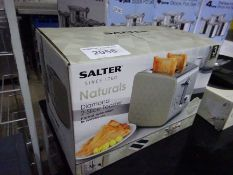New Salter Diamond 2-slice toaster.