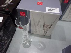 6 new Melodia crystal champagne flutes.