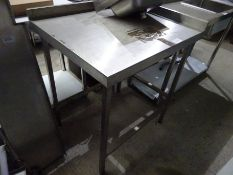 Stainless steel prep table, 90cms