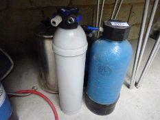 4 water softeners.