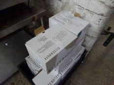 10 boxes of 6 no Ritzenhnoff 0.3L Poretti branded glasses.
