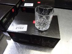 New Melodia 6 crystal tumblers.