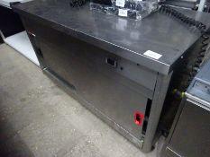 Lincat twin shelf mobile hot cupboard, 240v.