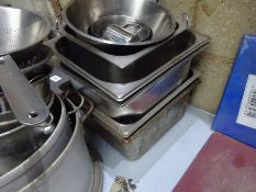 Mixed catering goods including gastronomes, ice buckets, cooking pots