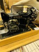 Singer 99K early electric sewing machine.