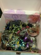 Two jewellery boxes with contents.