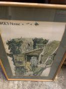 "Large Winnie the Pooh print entitled ""Wols House""."